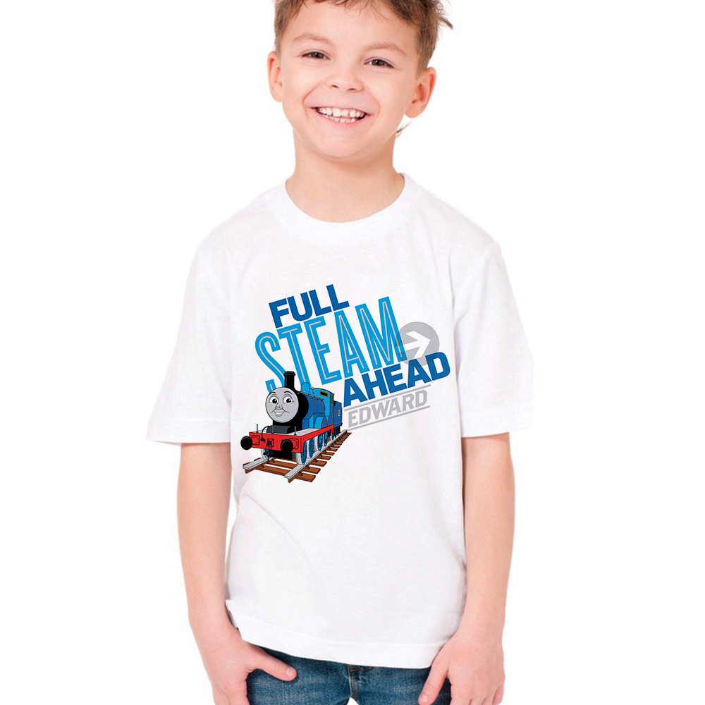 Friend Train Thomas Kids T Shirt Children Summer T-shirt Boys Girls Short Sleeve Tshirt Baby Tops Toddler Tees Infant Clothes new hot summer kids boys girls cartoon tees tshirt kids t shirt short sleeved tops cotton clothes pattern cactus cicishop