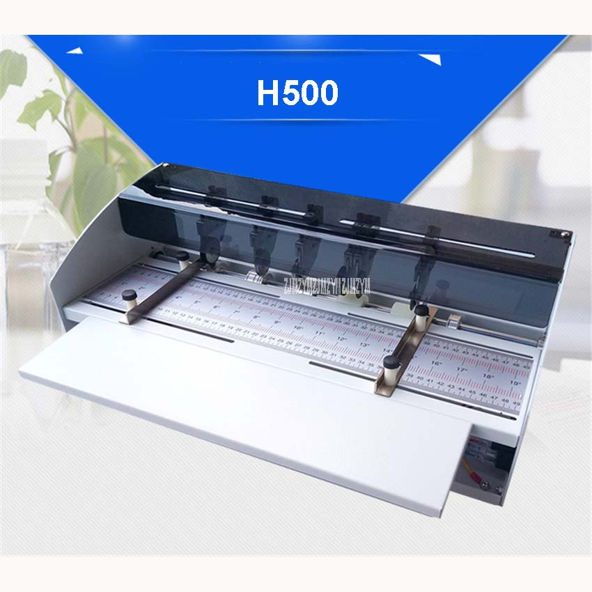 NEW H500 460mm Electric Creaser Scorer Perforator Cutter 3 in1 combo Paper Cutting Creasing Perforating machine 110V and 220V magnetic labret ear nose spike 16