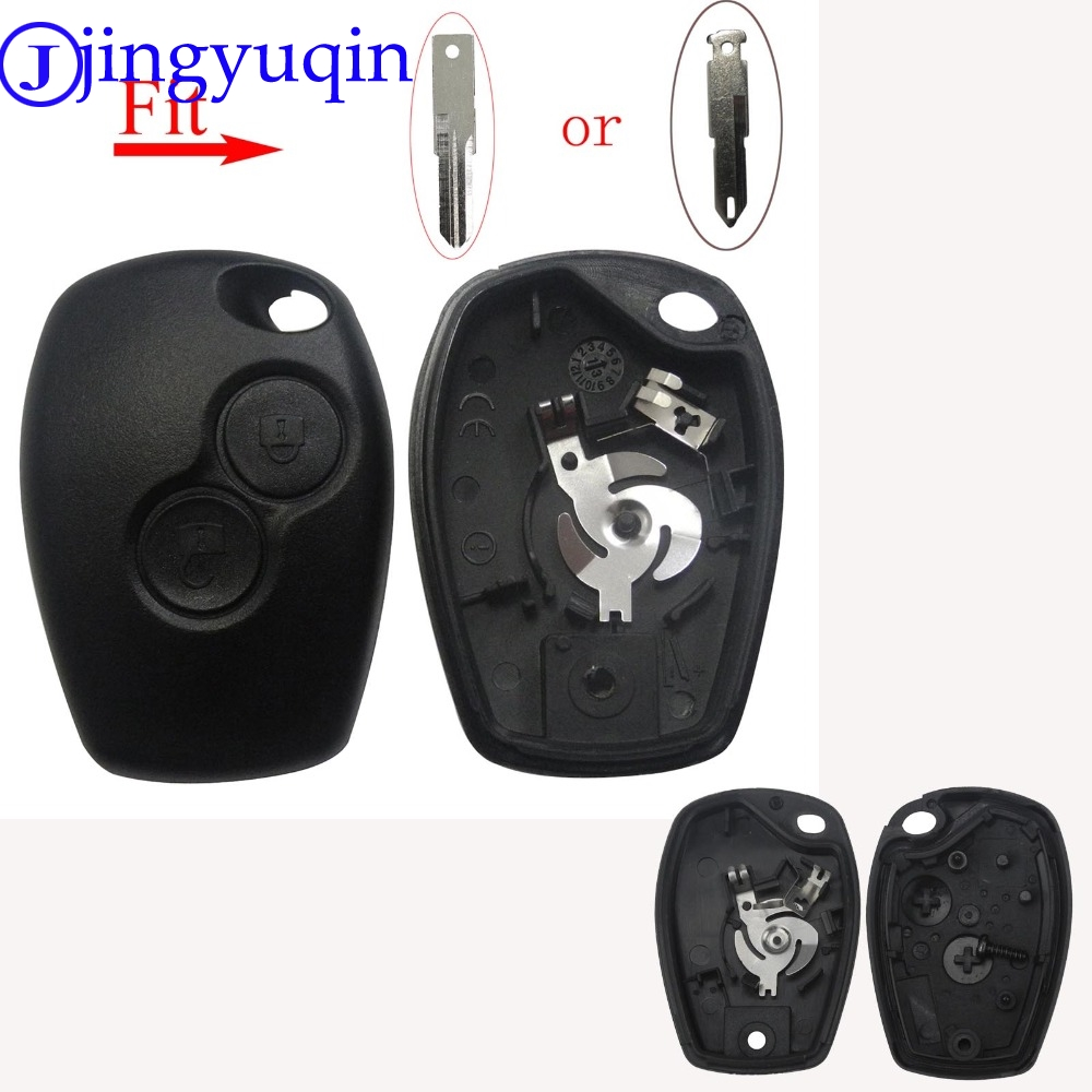 jingyuqin 2B Key Case For Renault Megane Modus Espace Laguna Duster Logan DACIA Sandero Fluence Clio Kango For NISSAN ALMERA(China)