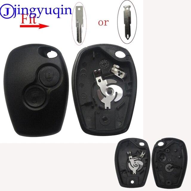jingyuqin 2/3 B Key Case For Renault Megane Modus Espace Laguna Duster Logan DACIA Sandero Fluence Clio Kango For NISSAN ALMERA