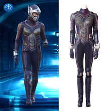 MANLUYUNXIAO 2018 Movie Ant-Man And The Wasp Cosplay Costume Halloween Carnival Wasp Costume For Women Jumpsuit Custom Made banks i the wasp factory