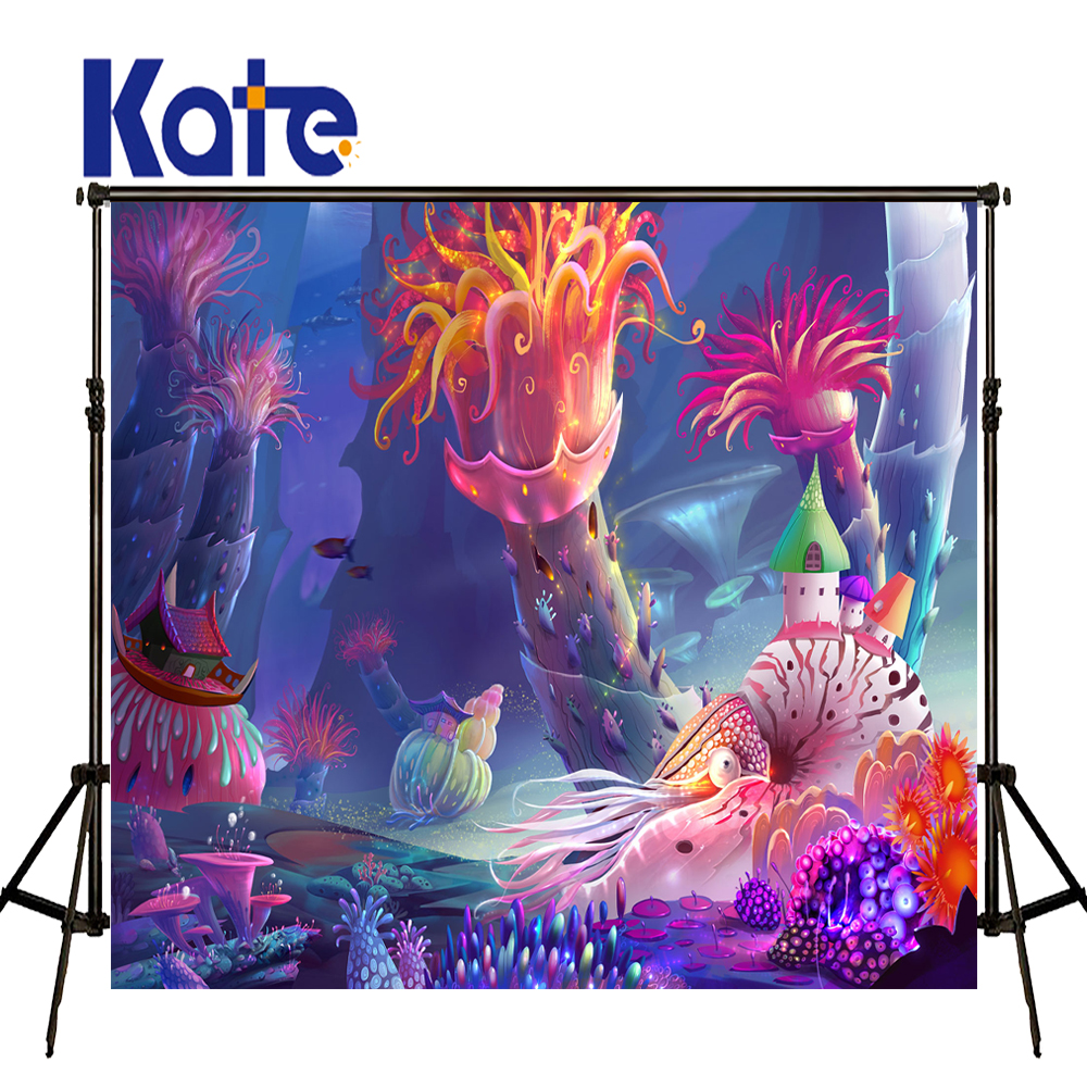 KATE Newborn Photography Background Underwater World Fairy Tale World Backdrops Naturism Children Photos for Photography Studio vinyl photography background fairy tale