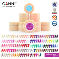 CANNI 140 Colors Gel Paint Solid Pure Glitter UV Soak Off Gel Builder Gel Nail Art False Tips Decoration 573-591