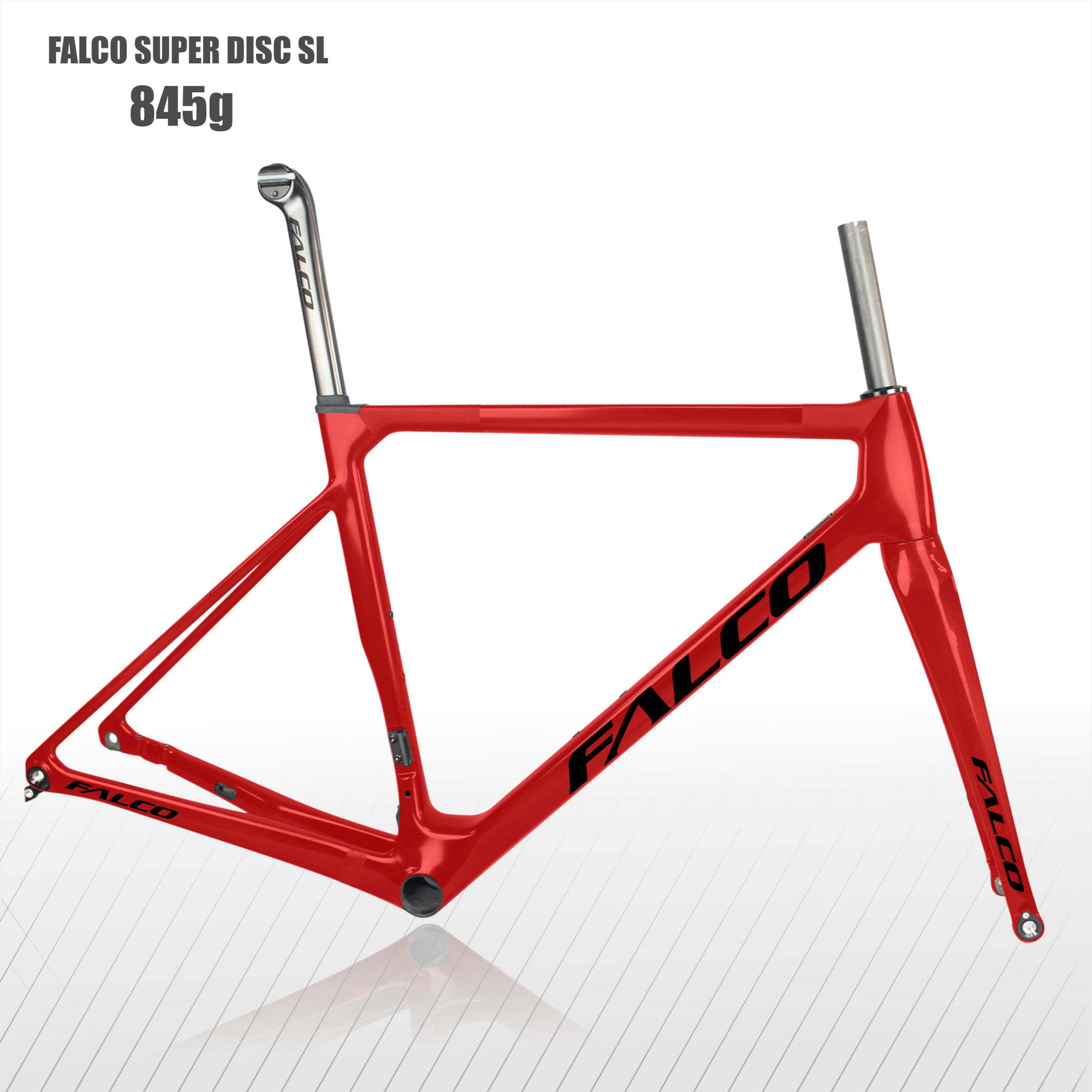2020 Falco Super Light Disc Road Bike Frameset T1000 Tory Carbon Fiber Disc Frame 49/52/54/56/59cm