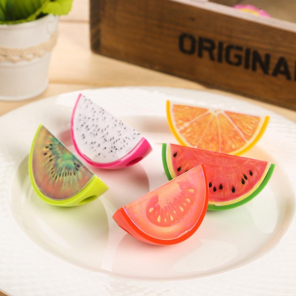 מחדדים לעפרונות בצורה של חתיכות פירות שונים: אבטיח, תפוז, עגבניה ועוד