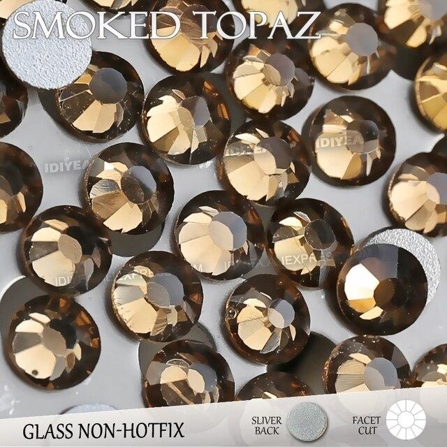 Smoked Topaz SS3 SS4 SS5 SS6 SS10 SS20 SS30 for Nail Art Rhinestones  Glitter Crystal Jewelry DIY Non HotFix stone Decor strass 373a6ed30161