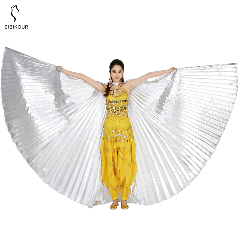 HTB1oXGwbLWG3KVjSZFPq6xaiXXaz - Belly Dance Isis Wings Belly Dance Accessory Bollywood Oriental Egypt Egyptian Wings Costume With Sticks Adult Women Gold