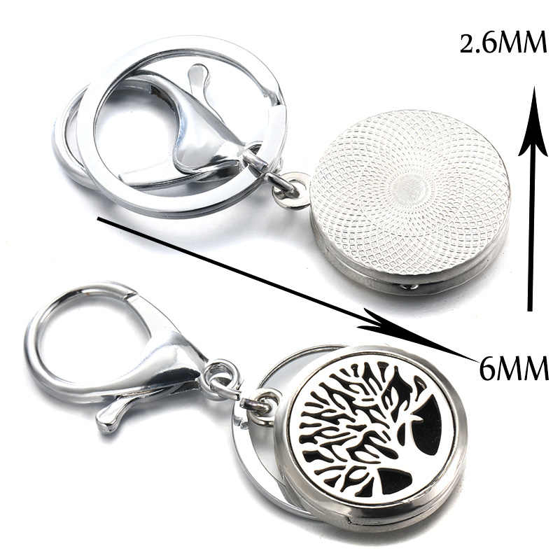 Charm DIY Moon Stars High Quality Perfume Key Chain Stainless Steel Essential Oil Diffuser Perfume Aromatherapy Locket Key Chain