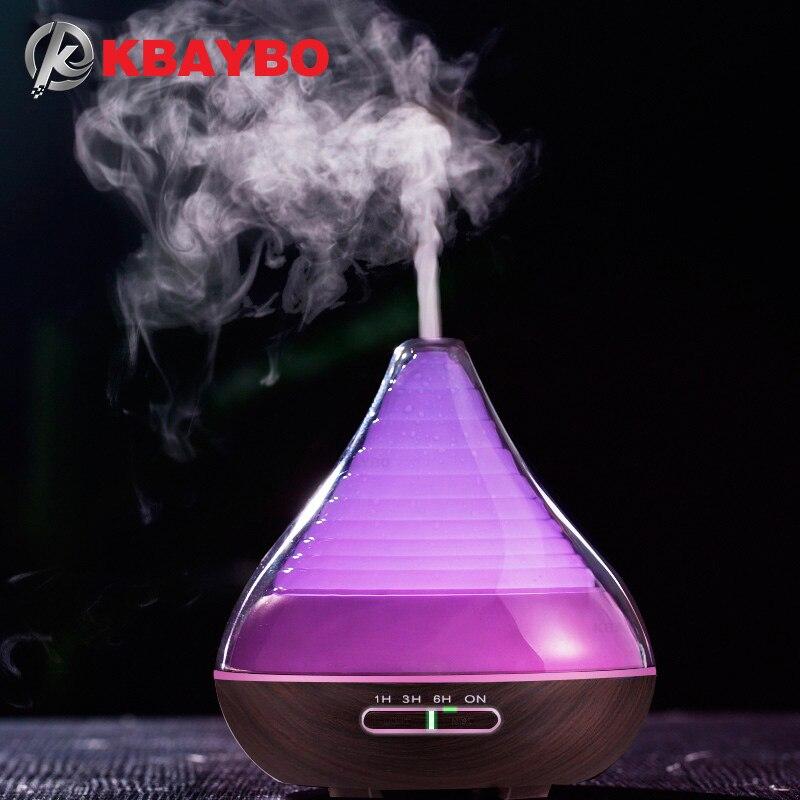 Humidificador de niebla frío ultrasónico de grano de madera difusor de aceite esencial de Aroma de 300 ml para estudio de sala de estar de dormitorio de oficina Yoga Spa