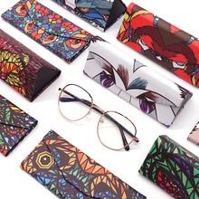KLASSNUM, новинка, треугольный складной чехол для очков, Мультяшные животные, коробка для очков, переносные солнцезащитные очки, контейнер, аксессуары для очков