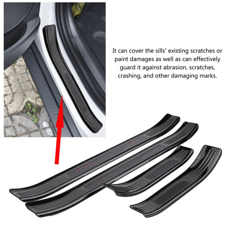 Door Sill Guards Protector External Scuff Cover For
