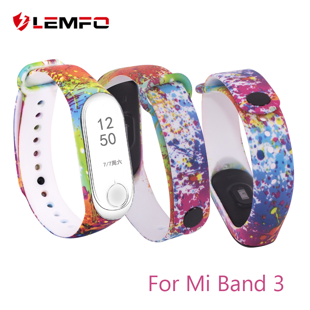 LEMFO Original Smart Watch Accessories For Xiaomi Mi Band 3 Strap Miband 3 Bracelet Silicone Replacement Cute Sport For Women lemfo smart accessories for xiaomi mi band 3 charger usb charging cable replacement miband 3 smart bracelet mini portable