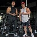 Caras Novas roupas Da Marca muscular Musculação Homens Fitness Tanque Topo Gorila Ouros suspiro Desgaste Colete Stringer Undershirt