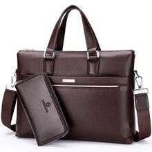 2016 Men Casual Briefcase Business Shoulder Bag genuine Leather Messenger Bags Computer Laptop Handbag Bag Men's Travel Bags