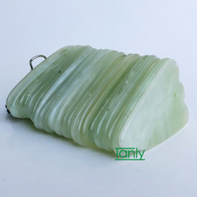 Good quality! WholesaleTraditional Acupuncture Massage Tool triangle Gua sha Board Natural Jade