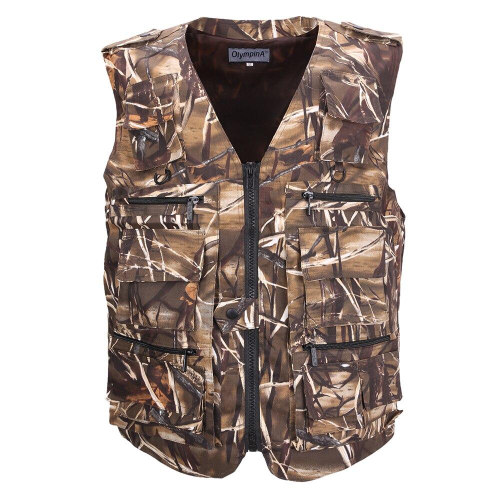 الصيد سترة الرجال سترة بلا أكمام التمويه الحقل تنفس سترة التكتيكية مع جيوب متعددة في الهواء الطلق صدرية