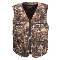 Fishing Vest Men's Sleeveless Jackets Camouflage Field Breathable Tactical Vest With Many Multi Pockets Outdoors Waistcoat