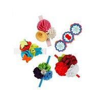 5 قطعة ثمينة اليدوية الزهور الوليد طفلة لينة مطاطا رباطات مختلط تصميم اكسسوارات الشعر مجموعة للأطفال