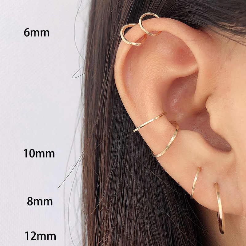 Домино ручной работы спираль маленькие серьги-кольца ювелирные украшения унисекс хряща минималистский