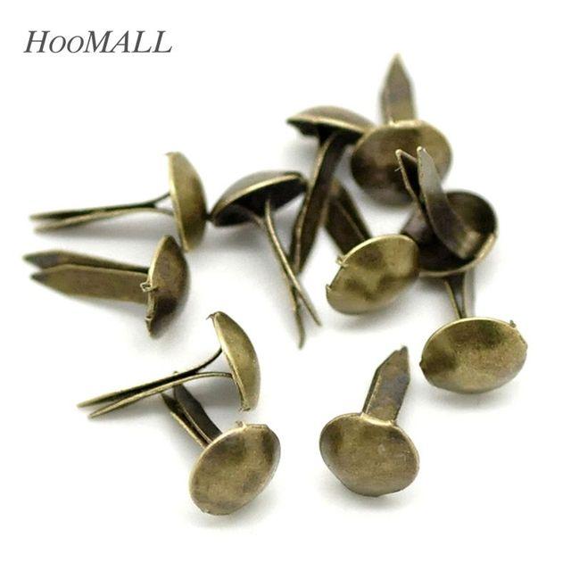 Hoomall marca 500 piezas redondo Metal Brads Scrapbooking adorno sujetador Brads Mini Vintage tono bronce 5mm