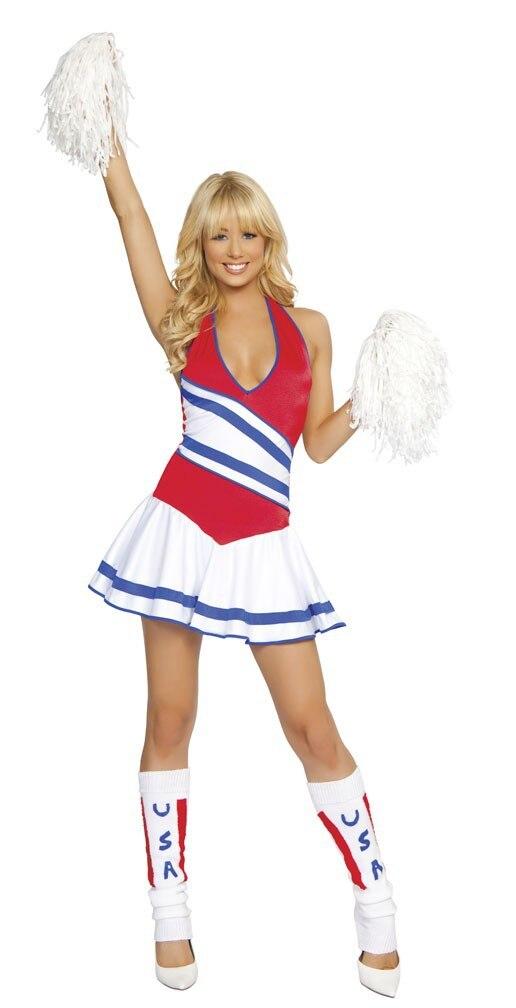 Sexy cheerleader traje-halloween carnaval traje das mulheres
