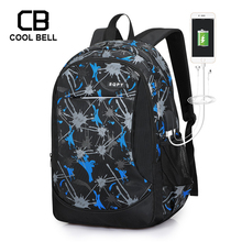 Oxford Print Schoolbag Middle School Student Backpack For Boys 15.6 inch Laptop School Bags For Girls Boys Waterproof Travel Bag oxford waterproof army green backpack male usb charger school backpack for girls travel laptop backpack school bags for boys bag
