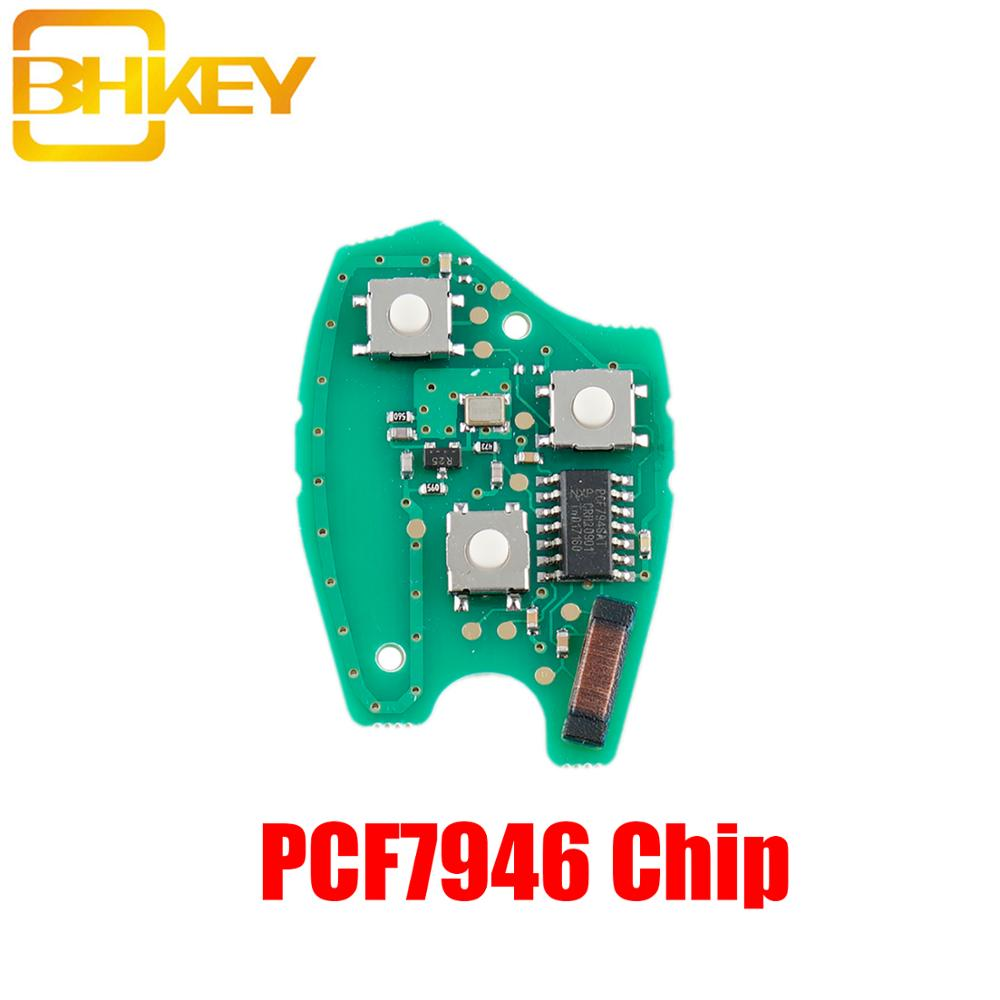 BHKEY 2/3Buttons Remote <font><b>Car</b></font> <font><b>key</b></font> PCB For Renault PCF7946/PCF7947 Chip For Renault Megane Modus Clio Kangoo Logan <font><b>Electronic</b></font> Board image