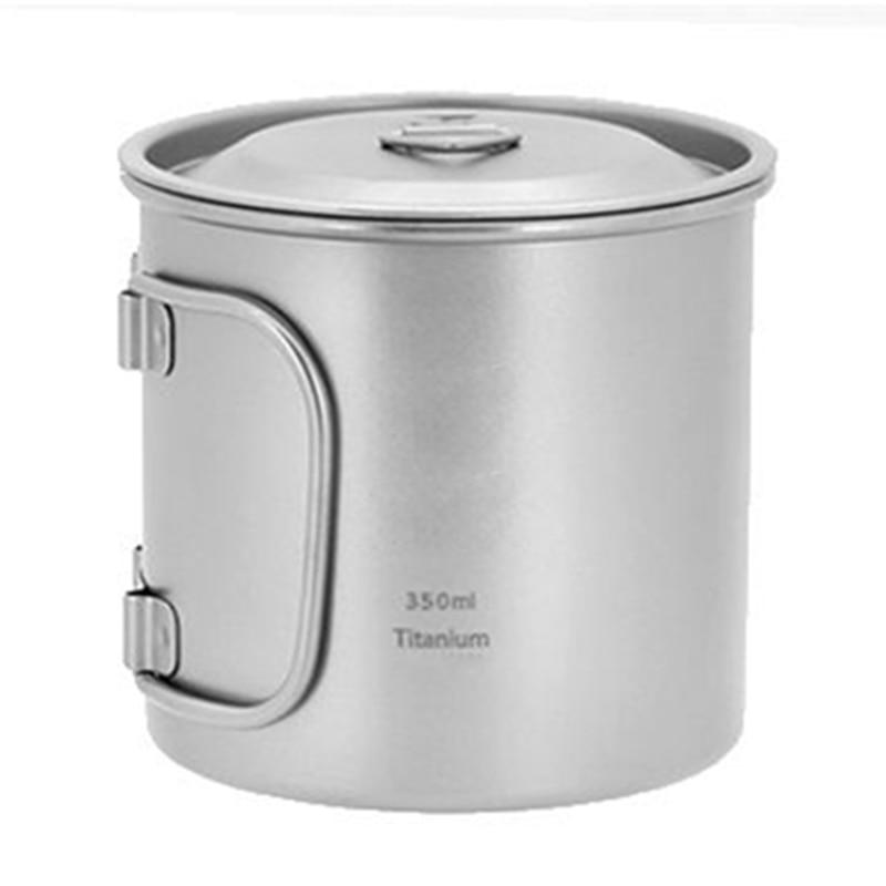 <font><b>Keith</b></font> <font><b>Titanium</b></font> Picnic Water <font><b>Cup</b></font> Mug Picnic Cookware No Scale No Tea Stains Bacteriostatic Function Ti3240 71g 350ml w/ Cover