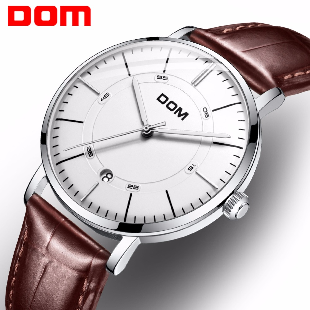 DOM Automatic Watch Men Stylish Fashion Casual Waterproof Calendar Automatic Skeleton Mechanical Watches Male for Gift M-8106 все цены