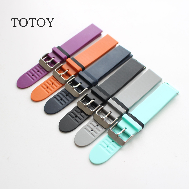 цена на TOTOY Natural Rubber Strap, 18MM For Withings Activite Pop steel Male / Female Rubber Strap, Fast Shipping
