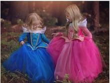 Free Shipping retail princess dress children dresses summer dress Elsa Dress 2017 Costume Party Princess Princess Aurora