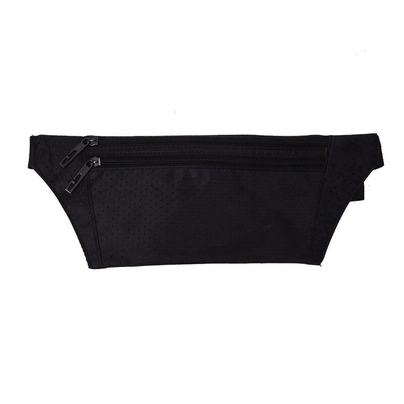 Waist Bag Polyester Closure Belt Black For Men Women