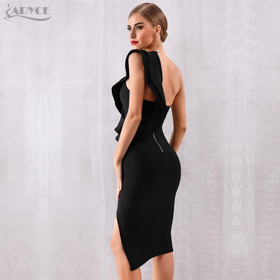 b57335d3e70a9 ADYCE 2019 New Summer Women Bandage Dress Celebrity Evening Party Dresses  Sexy One Shoulder Ruffles Bodycon Club Dress Vestidos