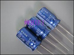 2019 حار بيع 20 قطعة/50 قطعة ELNA الأصلي RE3 الأزرق رداء مُكثَّف كهربائيًا 50v330uf 10x16 شحن مجاني