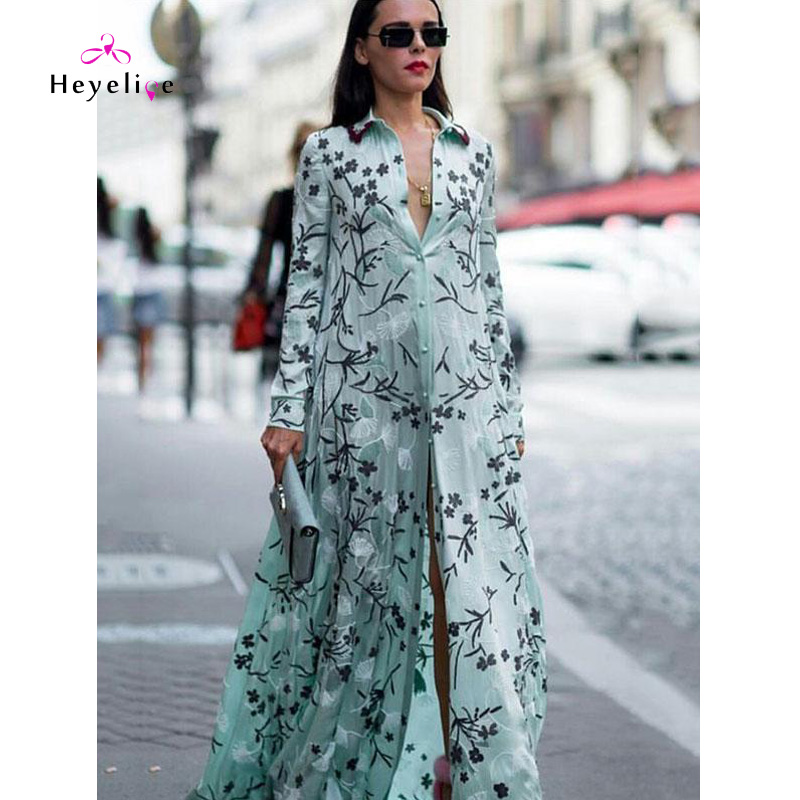Embroidered Dresses Women Long Sleeves Bohe Holiday Vestidos High Quality Sexy Elegant