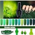 Высокое Качество Зеленый Гель Лак Для Ногтей длительный Soak Off УФ LED Красоты Nail Art Инструменты Sweet City 1 Bottle12 цвета 12 мл