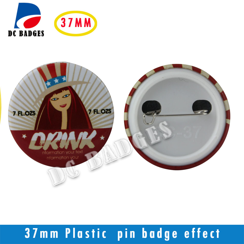 Free shipping Pin Blank Badge Material 1.5(37mm) 500sets Plastic back side,Badge Machine parts free shipping 44mm 200 sets magnet buttons material