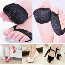 2018 1* Pair of Forefoot Insoles High Heeled Shoes Slip Resistant Super soft forefoot pad Non-slip anti-pain forefoot pad цена в Москве и Питере
