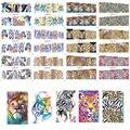 STZ 12 Designs in One Sets Sexy DIY Creative Wild  Animal Leopard Printing Decals Nail Art Sticker Watermark Tattoos NB085-096