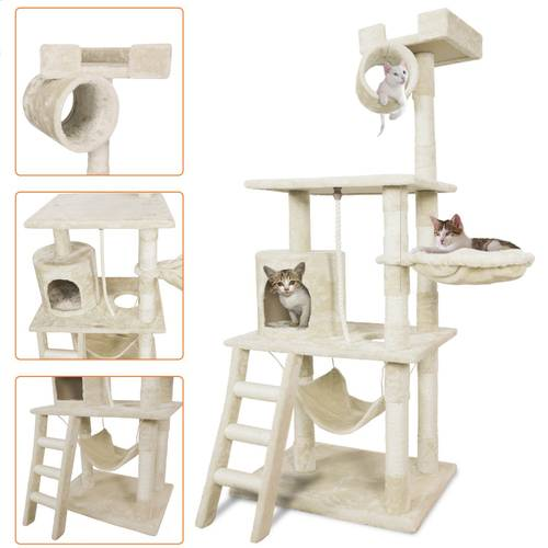Us 11699 Cat Scratcher Pet Palace Cat Tree Scratching Posts And Rope Activity Tower With Durable Compressed Wood Us Overseas Warehouse In Dog