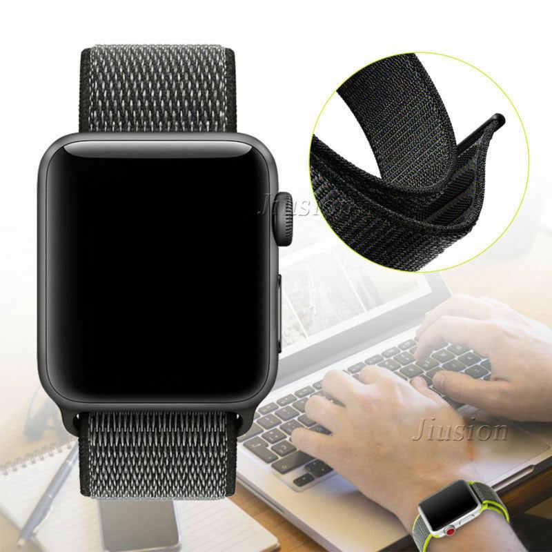 Apple Watch Series 4/3/2/1 38/40/42/44mm Correa suave de Nylon reloj inteligente correa de repuesto para hombre y mujer correa de bucle de pulsera deportiva