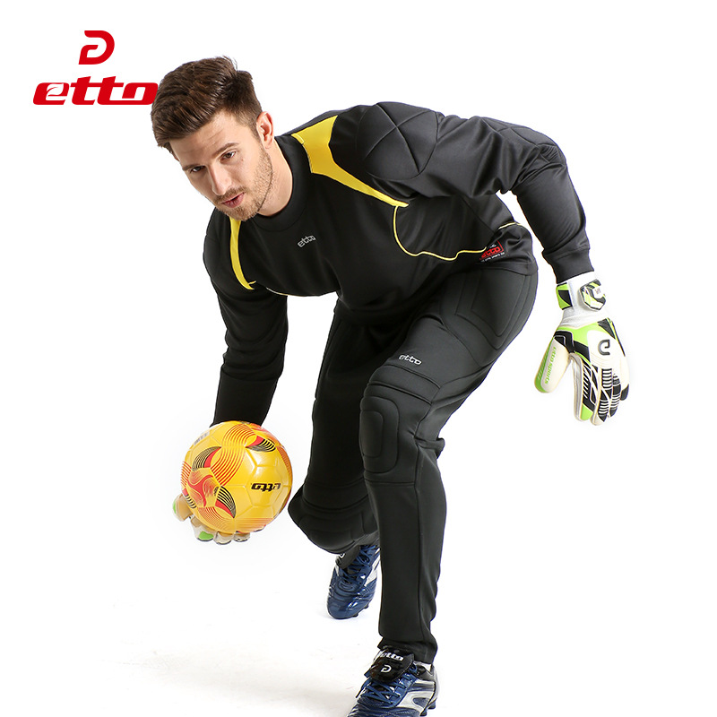 Quality Men Autumn Winter Full Sleeve Goalkeeper Shirts Goalie Breathable Quick Dry Soccer Jersey Long Sleeve Male M~5XL HUC012