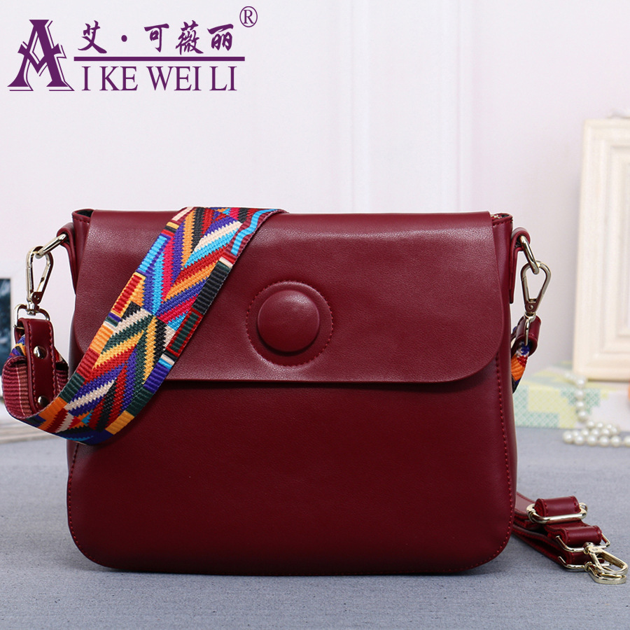 ФОТО 2017 Women's Genuine Leather Handbag Shoulder Bag Fashion  Ribbon Single Shoulder Full Leather Small Bag