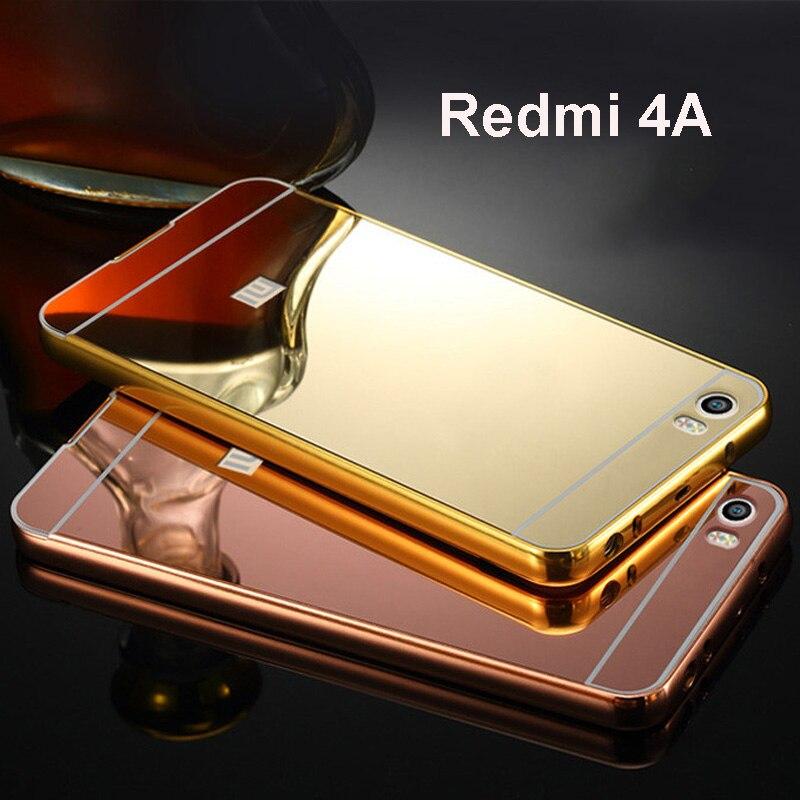 For xiaomi redmi 4a case metal aluminium frame bumper for Mirror xiaomi to pc