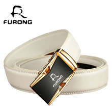 Fine Quality Alloy buckle Belts for Men Original Design Luxury White Male Genuine Split Leather Strap Mens Designer