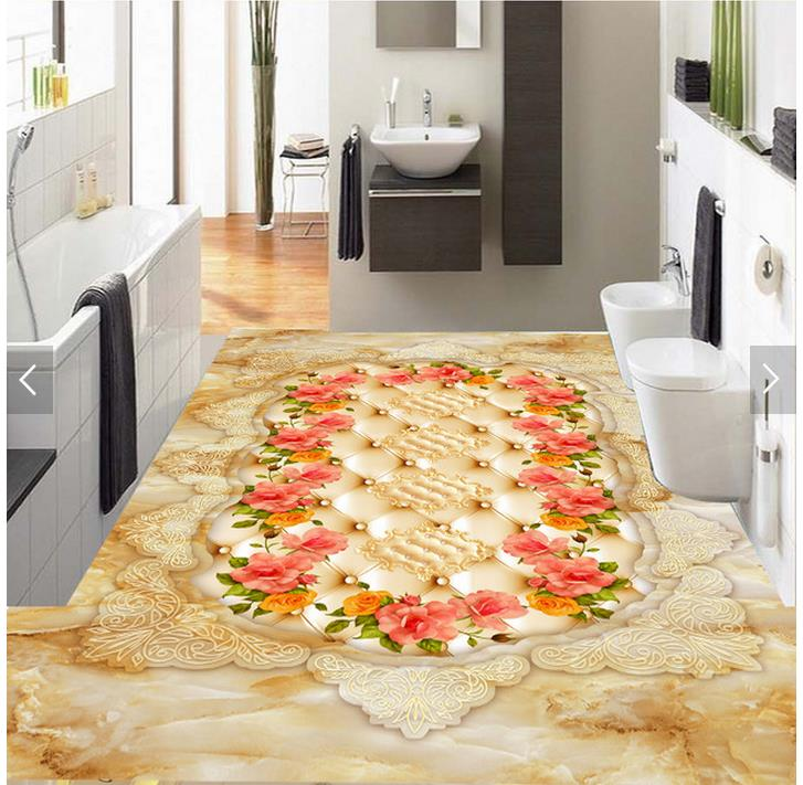 3d flooring European Stone Marble Living Room Bathroom 3D Floor 3d wallpaper pvc 3d floor painting wallpaper 3d wallpaper custom 3d flooring painting wallpaper 3d crystal clear hydrostatic stone floor wall paper 3d living room decoration