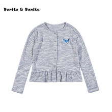 Benito & Benita Girls' Sweater Cotton Knit Coat Sweater Kids Clothes Casual Style Baby Girl Clothes Children Kids Sweater