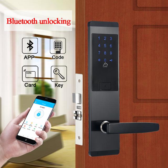 TTlock Bluetooth App WIFI Door Lock Electronic Combination Door Lock Smart Digital Touch Screen Keypad Password Lock For Office