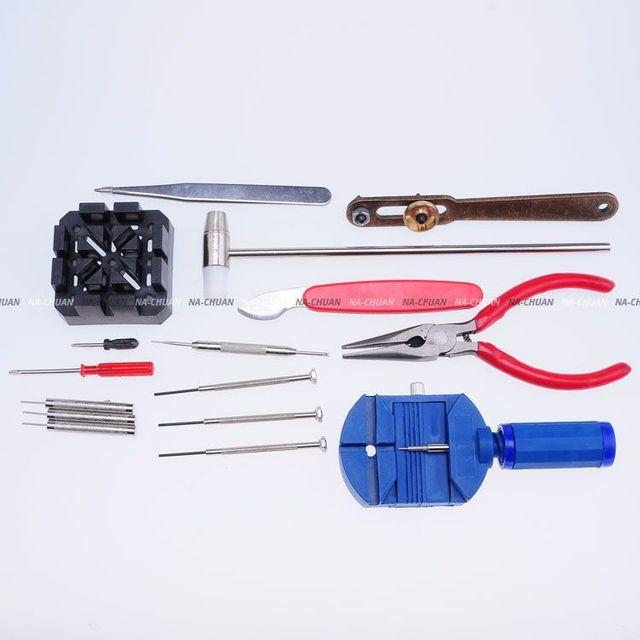 Новый Диапазон Вахты Pin Remover Дело Открывалка Острогубцев Крестовая Отвертка 16 в 1 Смотреть Repair Tool/WTL003