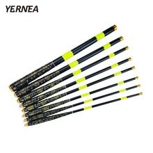 Yernea Carbon Portable Telescopic Fishing Rod 1.8M 2.1M 2.4M 2.7M 3.0M 3.6M 4.5M 5.4M Stream Hand Pole Carp Spinning